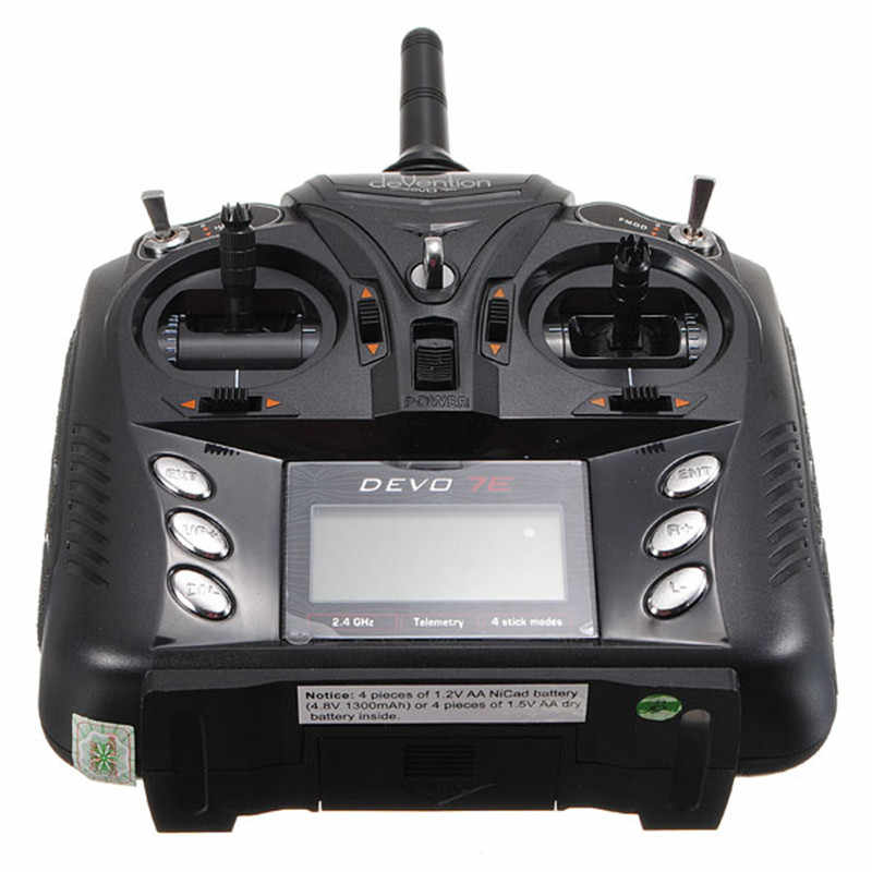 Walkera Devo 7E 7CH передатчик Радио режим управления 2 Левая рука дроссельной заслонки USB кабель аудио линия без приемника для радиоуправляемого вертолета