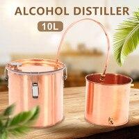 10L Red Copper Wine Alcohol Moonshine Water Distiller Flat lid Boiler Condenser Boiler House Home Brew Wine Bar DIY Making Tool