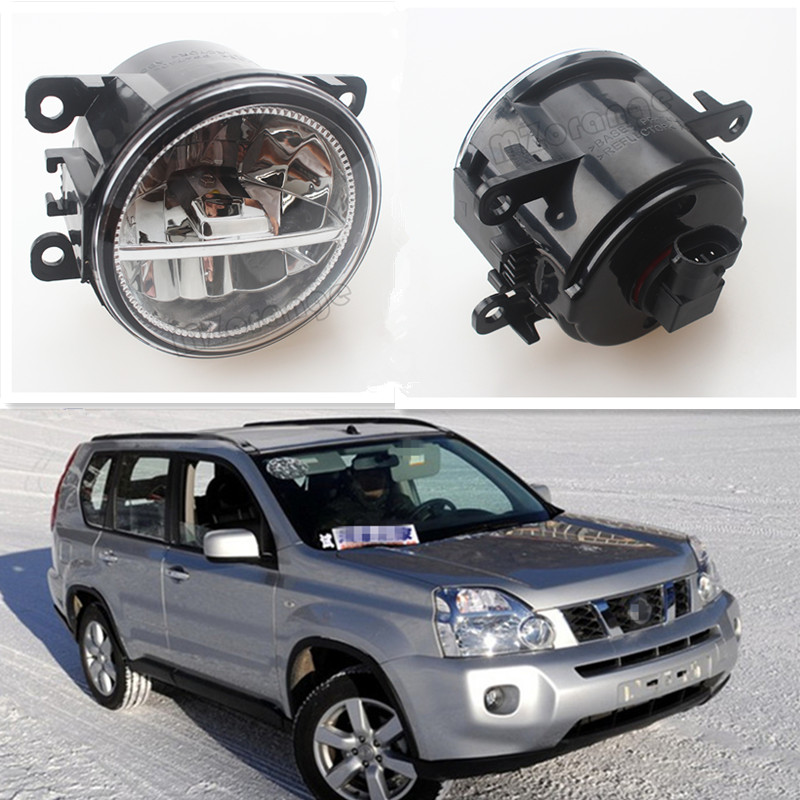 For NISSAN X-Trail T31 Closed Off-Road Vehicle 2007-2014 Car Styling Front Bumper LED Fog Lights High Brightness Fog Lamps 1 Set set j40 black steel different trail front bumper w winch plate