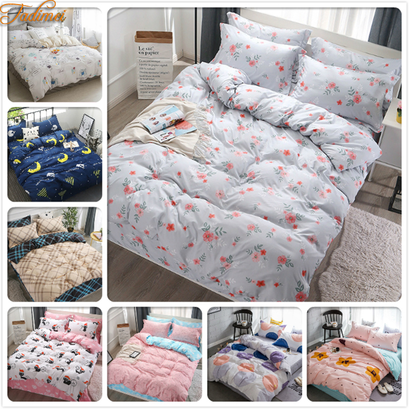 2019 Soft Cotton 3/4 Pcs Bedding Sets Adult Child Kids Bed Linens Single Twin Full Queen King Size Duvet Cover Quilt Pillow Case