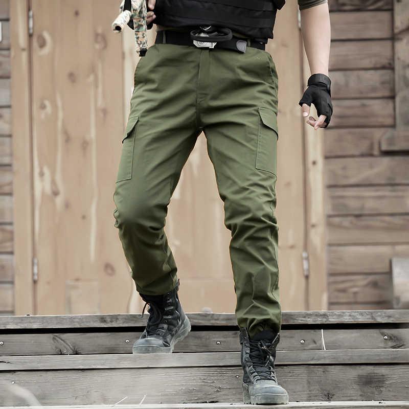 Pantalones Tacticos Militares De Algodon Para Hombre Ropa De Trabajo De Cazador De Combate Tactico Color Verde Militar Cs Pantalones Informales Aliexpress