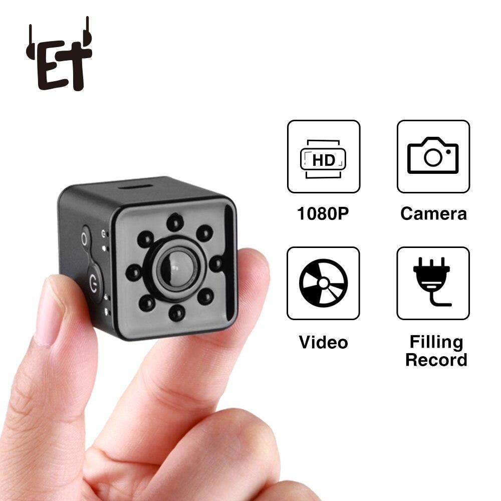 ET SQ13 Wifi Waterproof Camera 1080P HD Video Recorder Infrared Night Detection Mini Camera 360 Degree Rotation Digital Camera