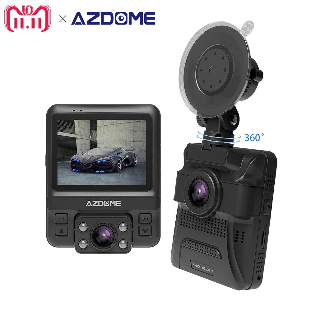 Azdome GS65H NT96655 Mini Lente Dupla Do Carro DVR NOVATEK Originais Frente Traço Cam Full HD 1080 p/Rear 720 p Câmera Do Carro Gravador de Vídeo