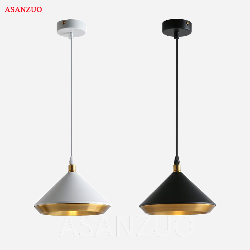 Nordic minimalist pendant light creative restaurant bar hanging lamp American iron balcony living room cafe pendant lamp ems free shipping pendant light iron lamp crystal pendant light restaurant lamp stair lamp balcony lamp pendant light