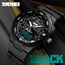 SKMEI Outdoor Sport Watches Waterproof Dual Display three Time Electronic Digital Military Luminous Relogio Masculino