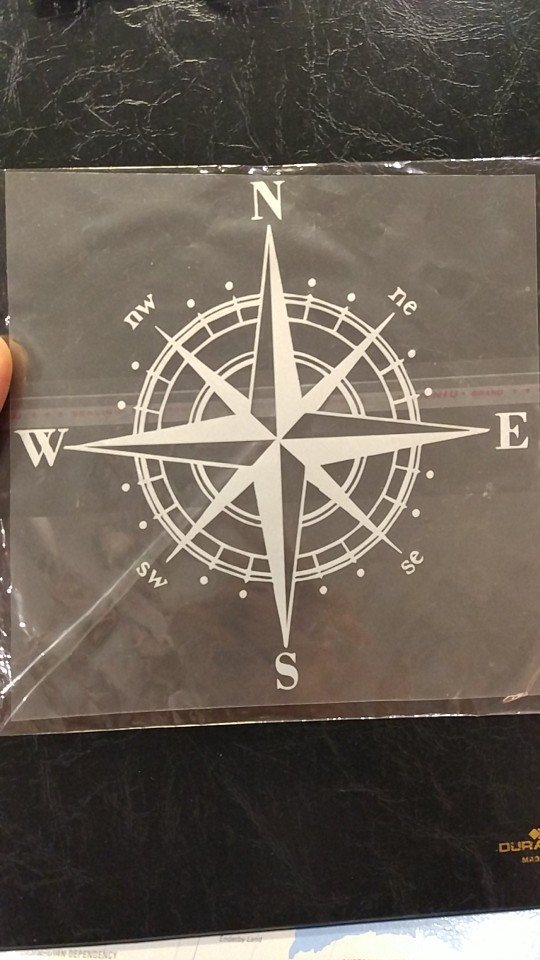 15cm*15cm Art Design Vinyl NSWE Compass Car Stickers Decals Black/Silver S6-3505