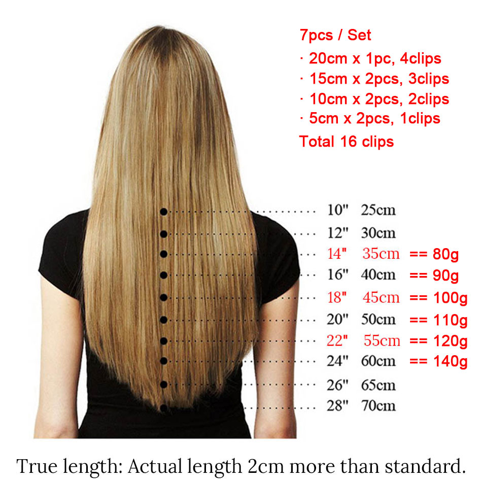 MRSHAIR Clip In Hair Extensions 16
