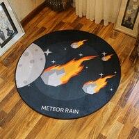 Dzieci Zabawki Dla Niemowląt Piękny kosmosu Okrągłe Dywany Dla Sypialnia Dzieci Koło Planet Dzieci Okrągły Grać Dywany Dywany Livingroom