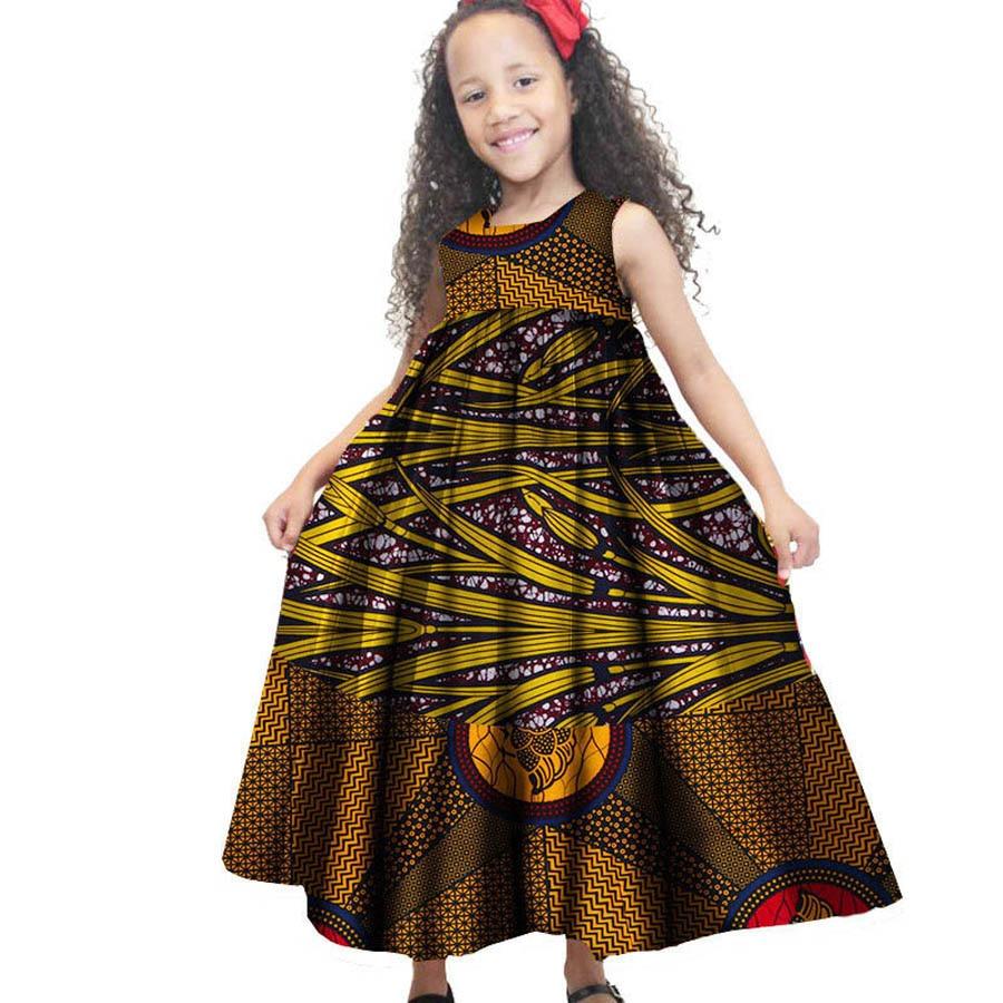 African dress for kids Children clothing 100% cotton wax fabric print  summer dashiki ankara kids long dresses 83c8fabf2826