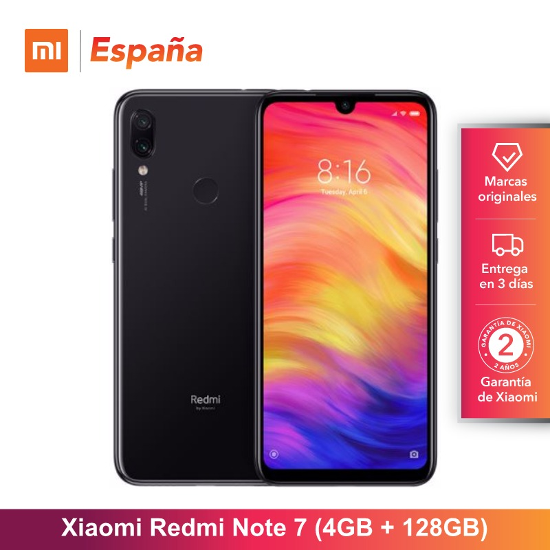 [Global Version for Spain] Xiaomi Redmi Note 7 (Memoria interna de 128GB, RAM de 4GB,Camara dual trasera de 48 MP) Movil