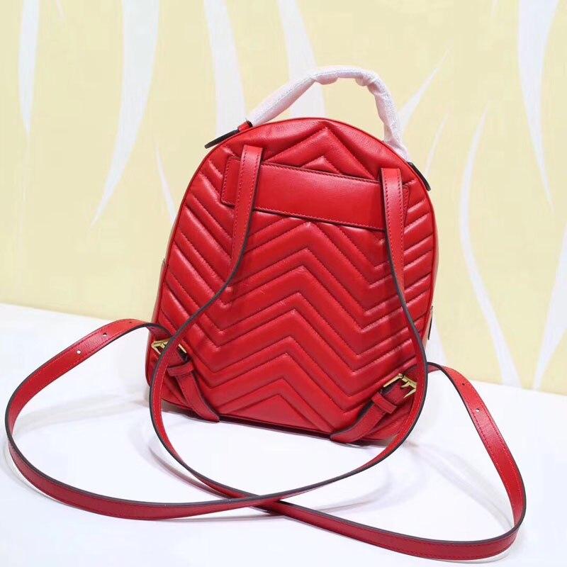 Célèbre marque sac à dos 2019 haute qualité à la mode en cuir véritable femmes sac nouveau Style à la mode de luxe Mini femmes sac à dos-in Sacs à dos from Baggages et sacs    1