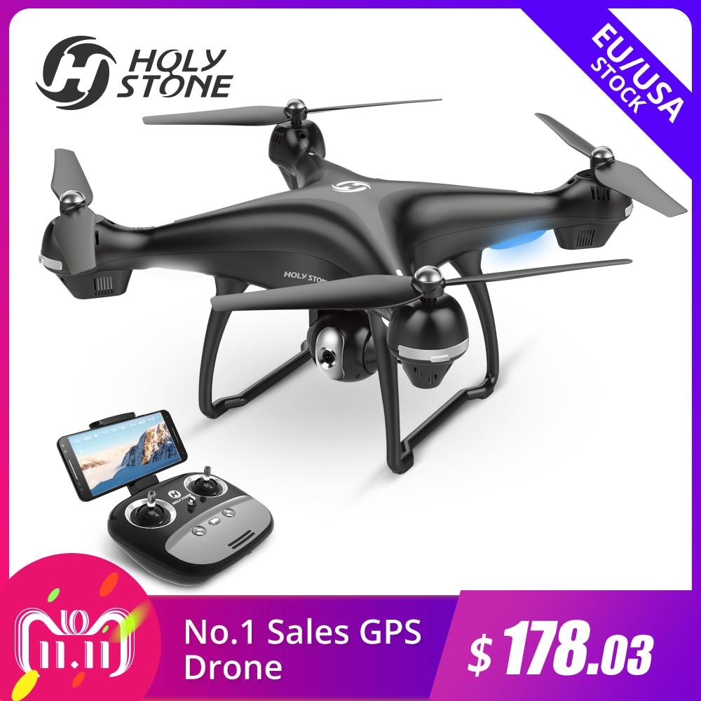 [UE, EE. UU. JP Stock] Piedra Sagrada HS100 GPS Selfie FPV Drone 500 m rango de vuelo 2500 mAh 1080 P 720 p Cámara RC Quadcopter sin impuestos de la UE