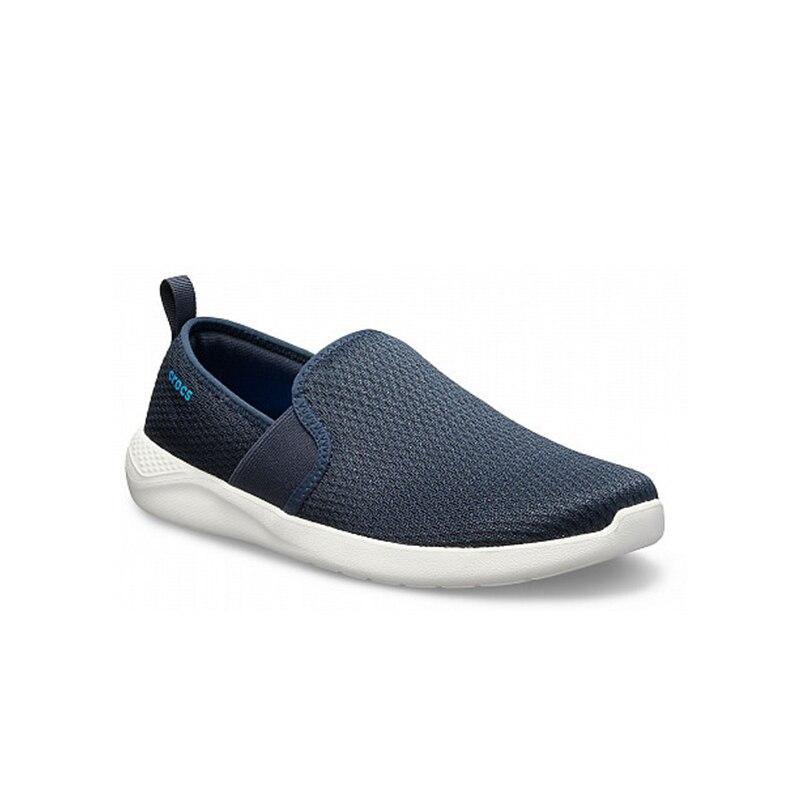 CROCS LiteRide Mesh Slip On M MEN for male, men men leisure breathable dual use slip on leather flat shoes
