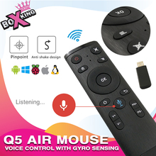 Q5 Voice Control 2.4 ghz Sem Fio 3-axis Gyro Sensing Fly Air Mouse Controle Remoto para Android tv Box xiaomi tv PC (g10) (p50)