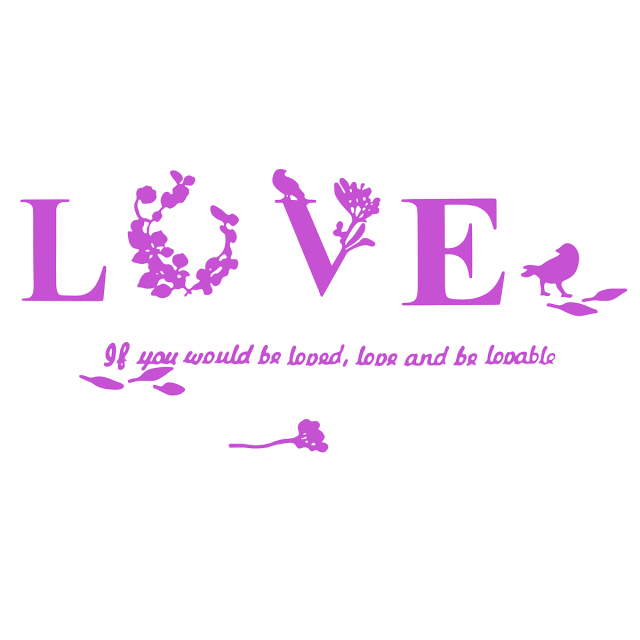 Removable Love Leaf Proverb Stickers
