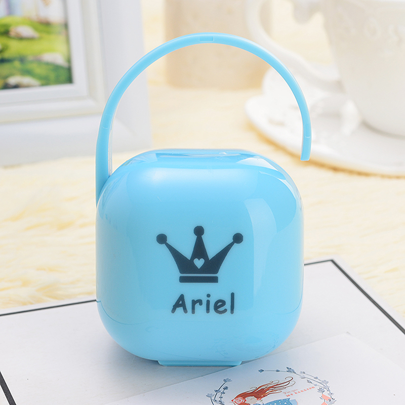 MIYOCAR Any Name Any Text Any Photo Can Print Unique Gift  Pacifier Storage Box Dustproof Soother Container Pacifier Travel Box