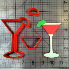 Cocktail Glass Design Cookie Cutter Set Custom Made 3D Printed Fondant Cake Decorating Tools Kitchen Accessories