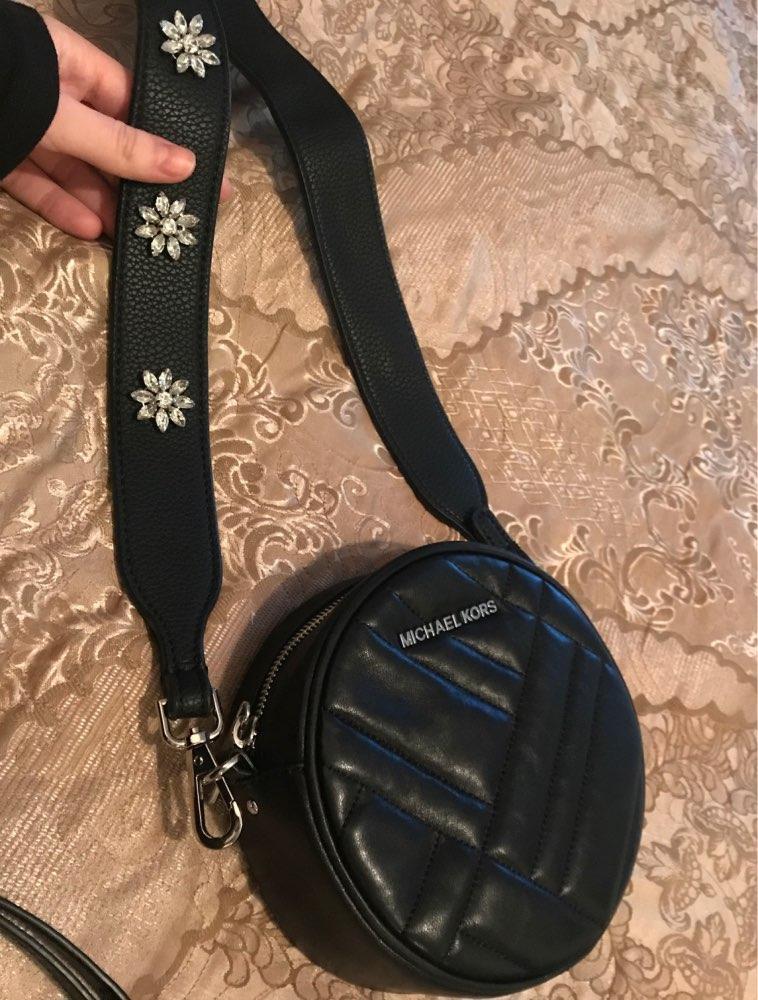 Fashion snowflake diamond pu leather ladies handbags leather belt bag accessories women's cross bag shoulder strap bag parts photo review