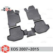 Коврики для Volkswagen EOS 2007 ~ 2015 ковры Нескользящие полиуретановые грязи защиты подкладке автомобиля средства укладки волос