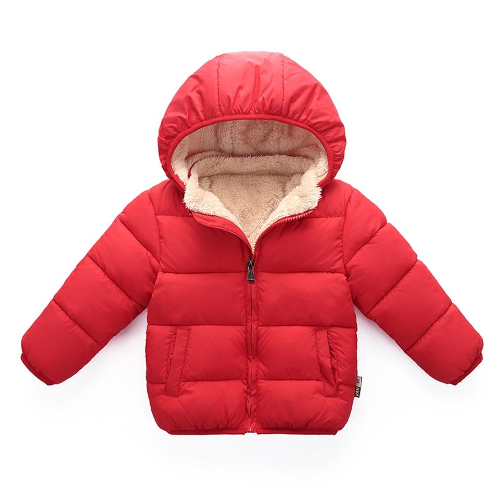Baby Boys Girls Long Sleeve Fleece Down Jacket Warm Coat Cotton Padded Outwear paul frank baby boys supper julius fleece hoodie