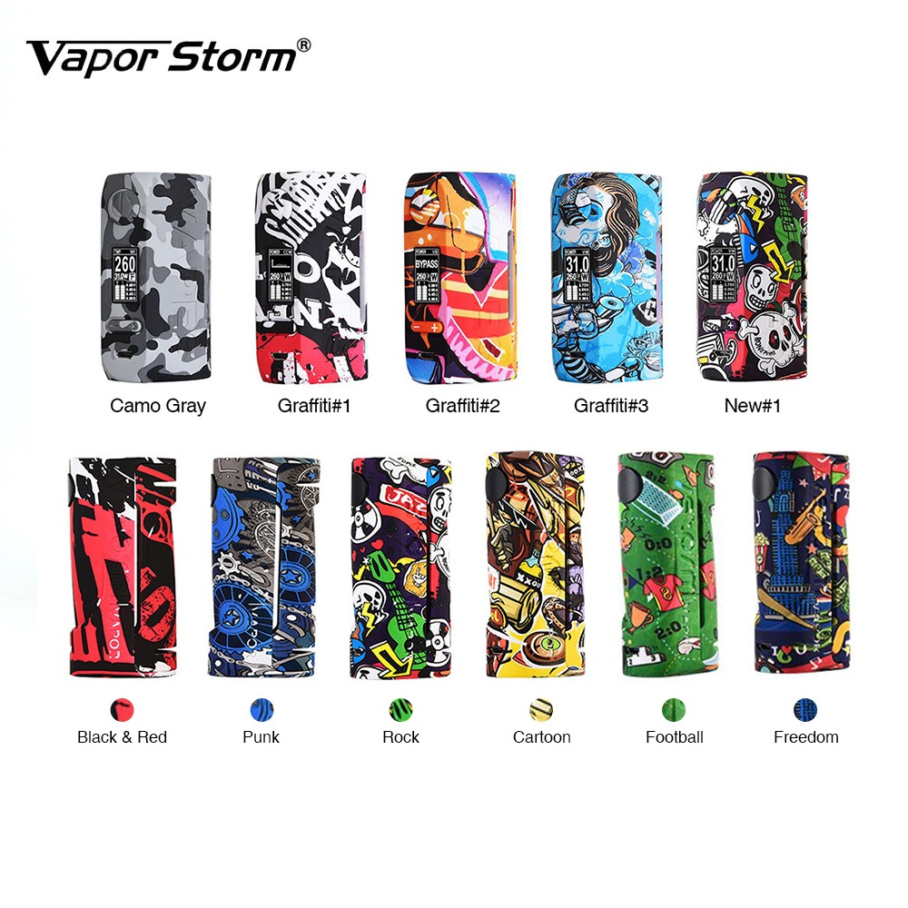 200W Vapor Storm Storm230 TC Box MOD Puma vs Vapor Storm ECO Box Mod Powered by 18650 battery e cig vape mod vs Thor Mod original 218w hugo vapor rader mage tc box mod with nylon fibre frame powered by dual 18650 battery vape box mod vs storm230 mod