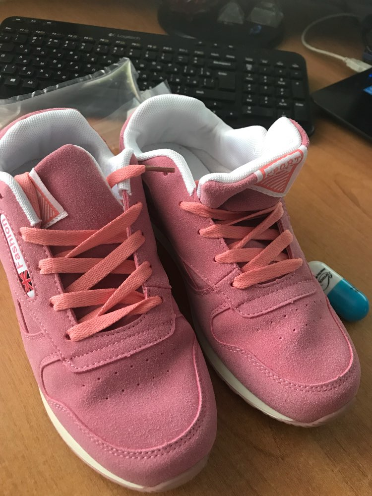 APTESOL Breathable Light Womens Sneakers High Quality Cow Suede Running Shoes for Felame Outdoor Sport Shoe Non-slip TPU Outsole