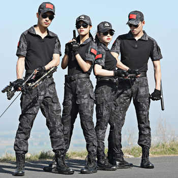 Military Uniform Tactical Camouflage Clothing Combat Shirt Tactico Uniforms Special Force Hunting Clothes Knee Pads Men CS Suit - DISCOUNT ITEM  51% OFF Novelty & Special Use