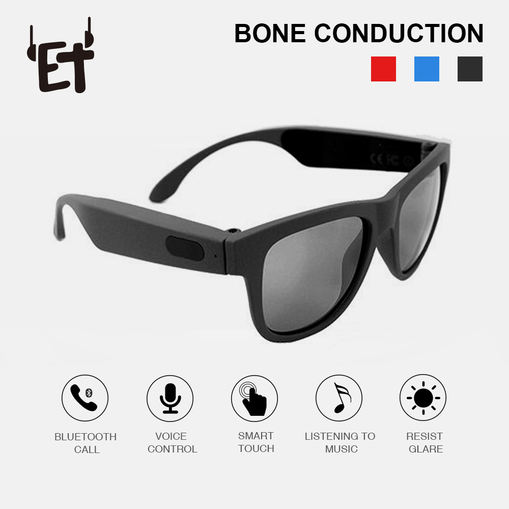 G1 Polarized Conduction Bluetooth Sunglasses Bone Headsets SmartTouch Smart Glasses Health Sports Wireless Headphones&Microphone