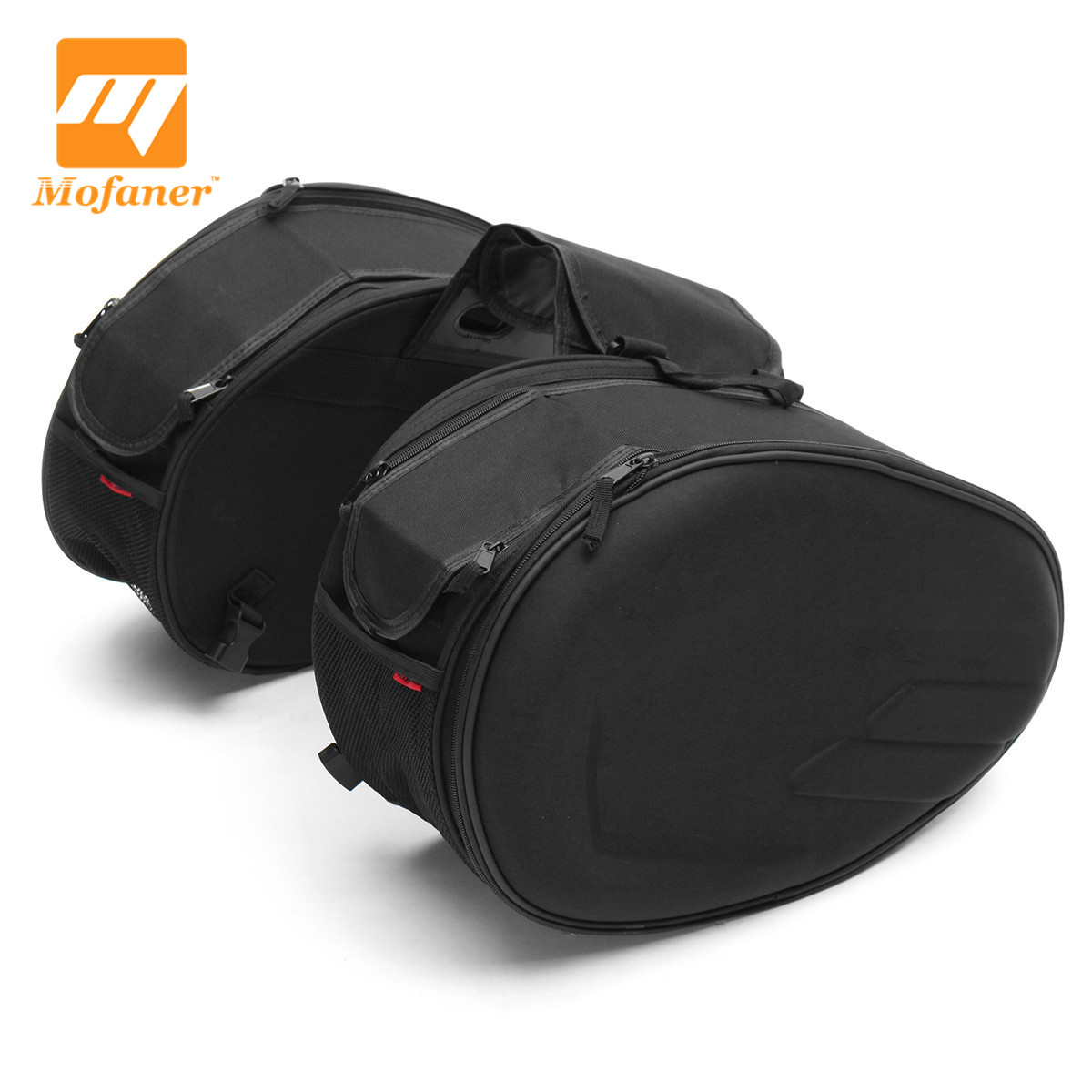 цена на Mofaner 58L Large Waterproof Motorcycle Bag Expandable Motorbike Multi-use Rear Two Side Seat Luggage Saddle