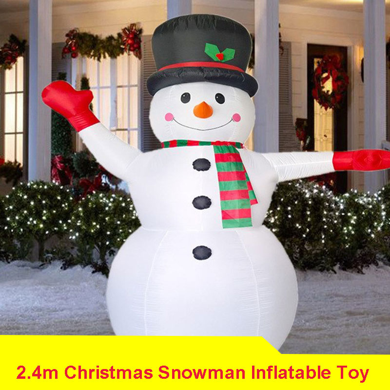24m giant inflatable snowman blow up toy santa claus christmas decoration for hotels supper market entertainment venues props in inflatable bouncers from - Blow Up Christmas Decorations