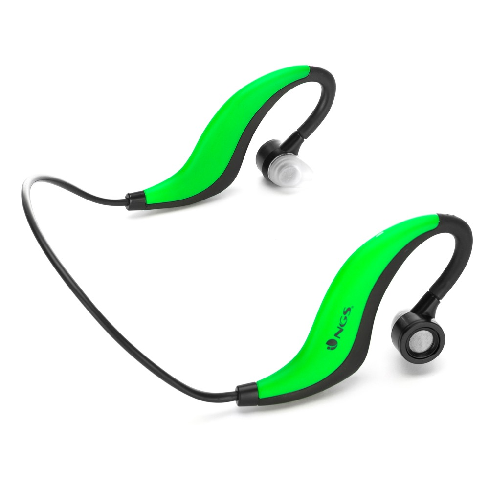Resist water wireless headphones ear with microphone built-NGS Artica Runner Green