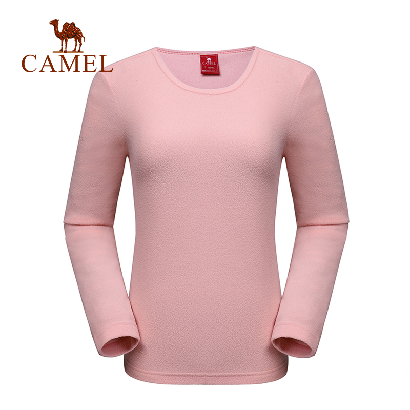 CAMEL Outdoor Sports Long Sleeve Fleece Shirt 2019 Autumn Thermal Hiking Shirts Couple Shirts Warm Coat Multicolor