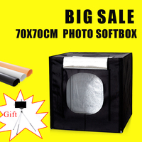 70*70*70CM Portable Led Light Photo Softbox Studio For Photography Light Room Photo Studio Photo Soft Box Kit With Free Gift