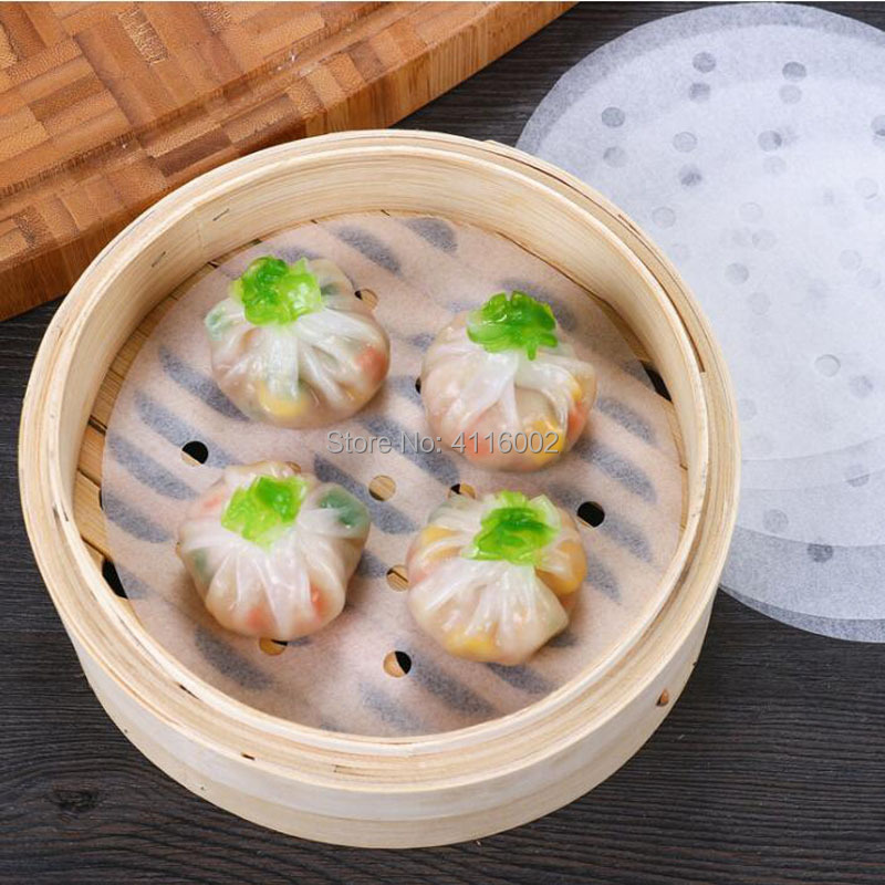 5inch 12.7cm Round Steamer Paper Liners Suitable For Restaurant Kitchen Cooking Steaming Basket Vegetables Dim Sum Rice