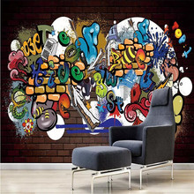 Cool graffiti decorative painting wall professional production mural factory wholesale wallpaper mural poster photo wall free shipping vintage style large mural wallpaper graffiti rock old poster ktv bar wall wallpaper mural
