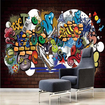 Cool graffiti decorative painting wall professional production mural factory wholesale wallpaper mural poster photo wall hand painted color oil painting background wall professional production mural factory wholesale wallpaper poster photo wall