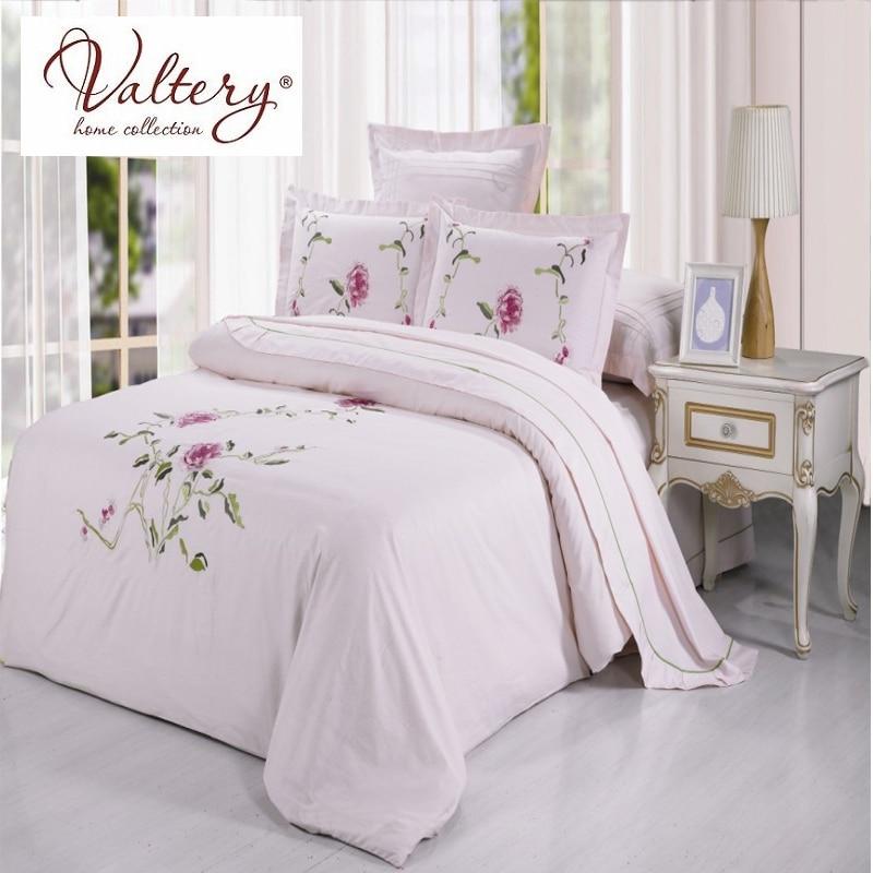 100% cotton satin jacquard flowers luxury bedding sets queen king size duvet cover bed sheet set bed set bed linen kit plaid 3pcs simple solid colour bed sheet set