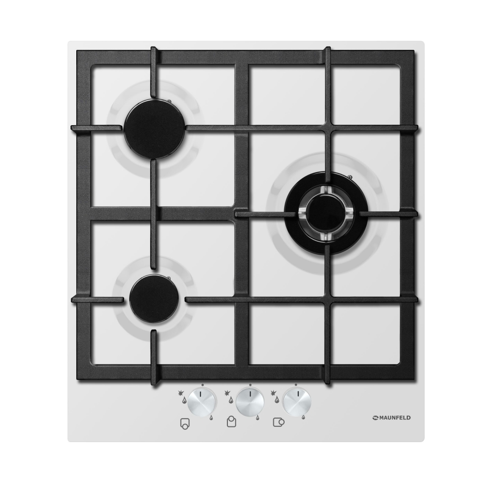 Cooking panel MAUNFELD EGHE.43.33CW/G White cooking panel maunfeld eghe 64 43cw g white