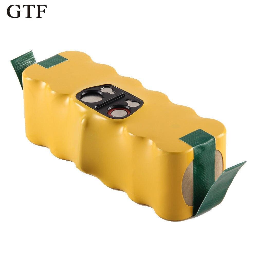 GTF Top Ni-MH batterie pour iRobot 14.4 V 3500 mAh 80501 500 550 560 510 610 ACCU batterie Rechargeable