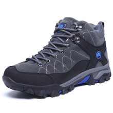Winter Outdoor Men's Anti-lip Warm Hiking Sports Sneakers Shoes Men Wearable Climbing Sports Boots Shoes for Trekking & Camping