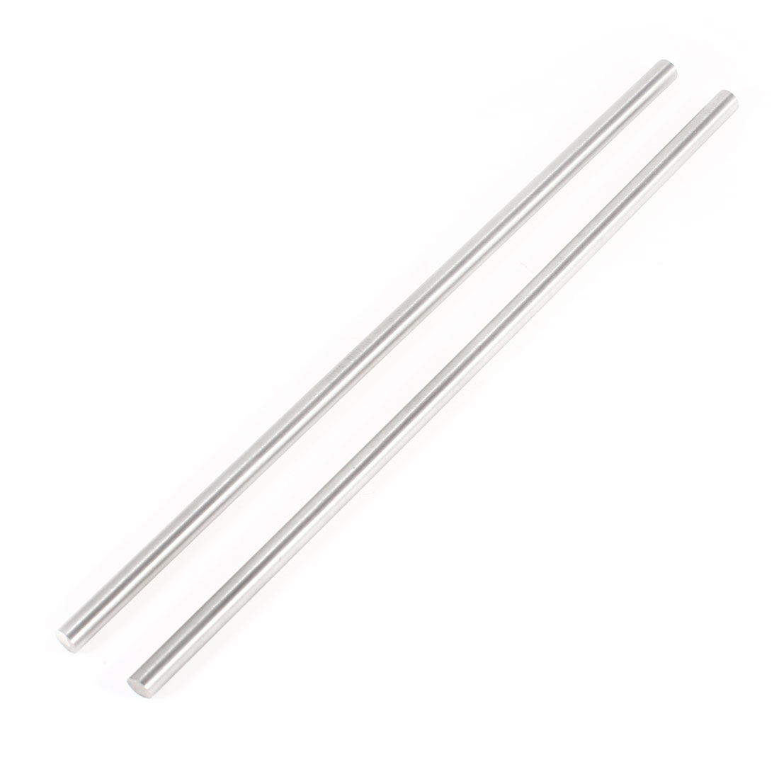 UXCELL 2Pcs Gray Steel Round Rod Turning Lathe Bars Tool 6Mm X 200Mm