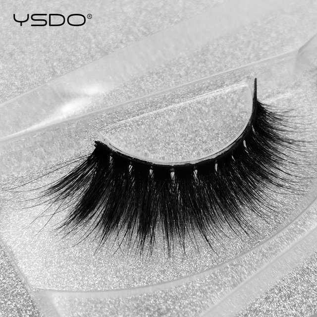 YSDO 1 Pair 3D Mink Lashes winged Natural Hair Lash MakeupDramatic False EyeLashes Soft Thick Fake EyeLashes Wispy Mink Lashes