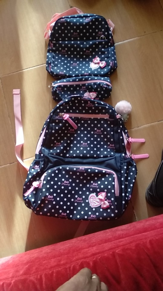 3pcs/set Printing School Bags Backpack Schoolbag Fashion Kids Lovely Backpacks For Children Girls School Student Mochila photo review
