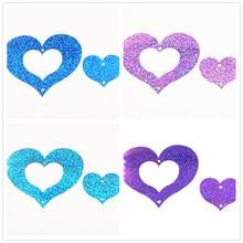 60pcs/lot  combination Heart Sequins PVC Flat Paillette Decoration With 2Hole some Laser Colors