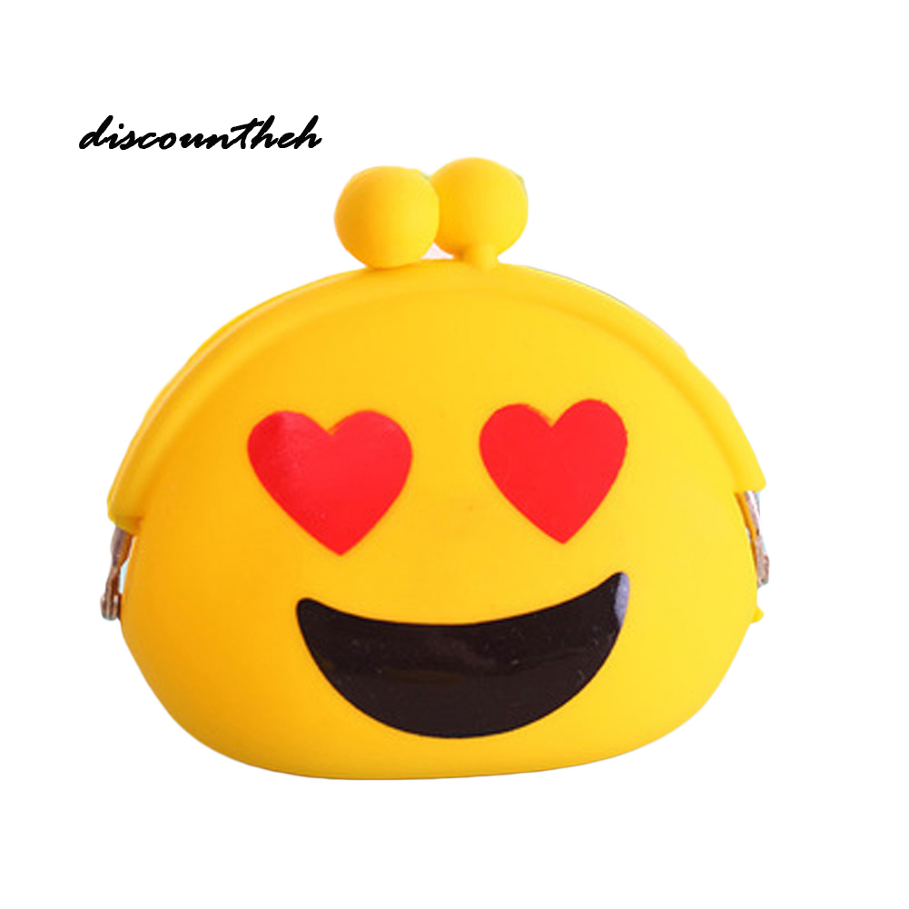 Children Silica Gel Purses Pouch Gift New Expression Coin Purse Silicone Wallet Change Bag Female Women Mini Key Case Kids