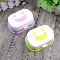 1pc new arrival travel handmade soap box soap case dishes waterproof leakproof soap box with lock box cover color random