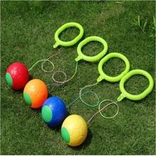 Family Outdoor Leg Ball Anklet Rotating Ring Funny Bouncing Balls Foot Flashing Skip Jump Ropes Sports Swing