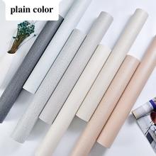 Livingroom Wallpaper Grain Self-Adhesive Blue Green Khaki X Cloth PVC 60cm 5m-Light Gray