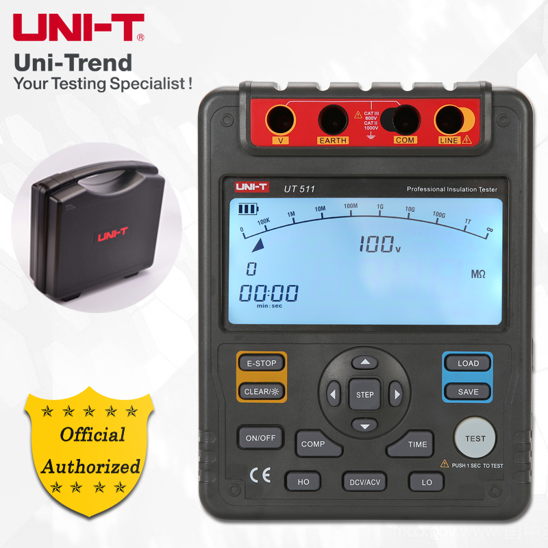UNI-T UT511 Insulation Resistance Tester; 1000V megger, Data Storage/Analog Bar Graph/DAR/overload and high voltage indication bichot charles edmond graph partitioning