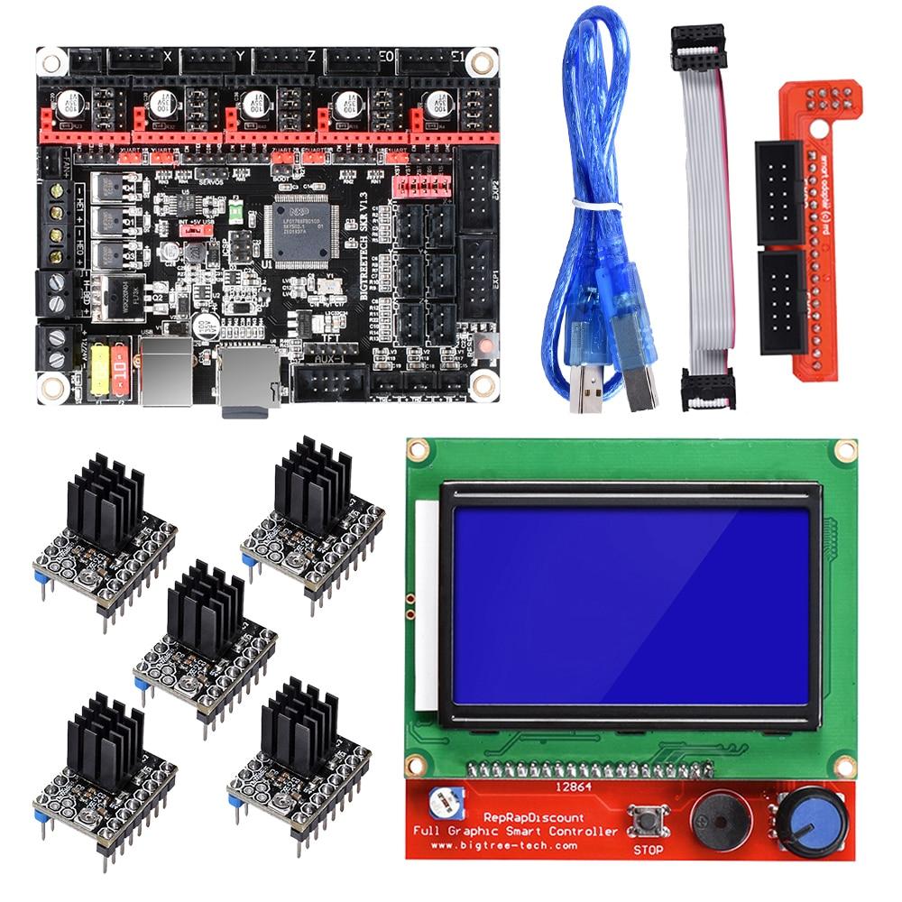 BIGTREETECH SKR V1 3 Motherboard ARM CPU Control Board 12864LCD Display TMC2208 TMC2130 A4988 Driver 3D